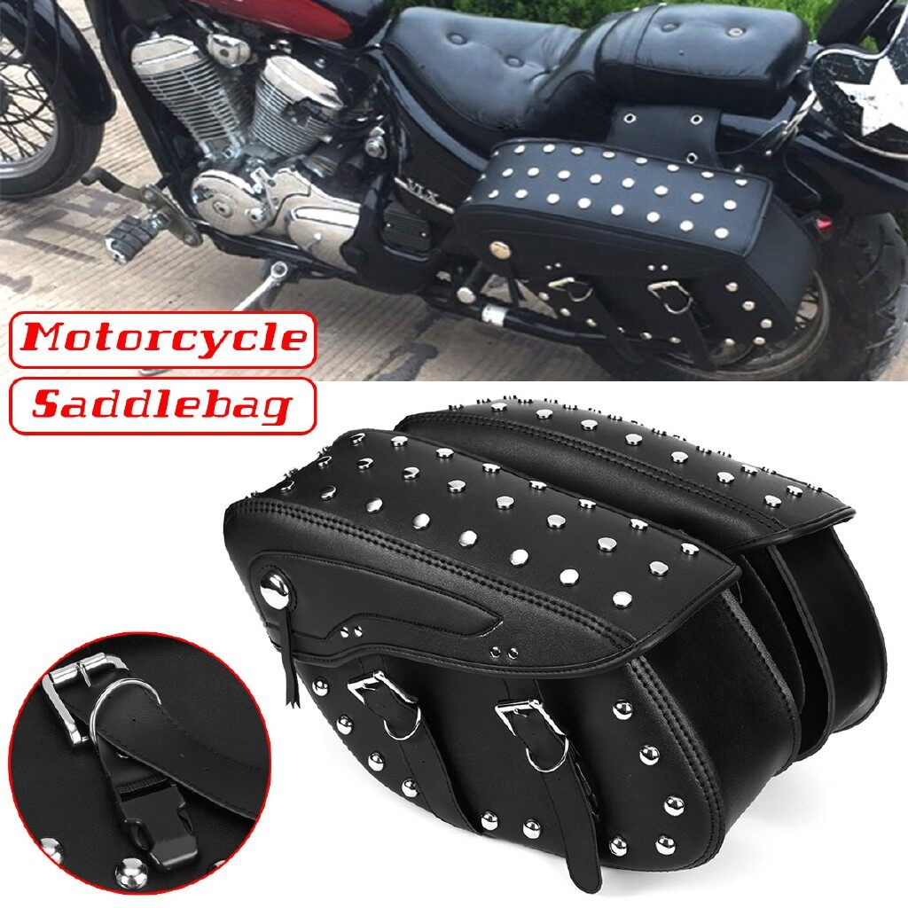 Moto Accessories - Pair Motorcycle Saddle Bag Saddlebag Side Luggage Universal For Harley Sportster - Motorcycles, Parts