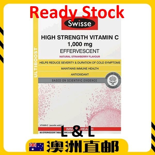 [Ready Stock EXP : 04/2022yr ] Swisse High Strength Vitamin C 1000mg ( 3 Bottle ) (Made In Asustralia)