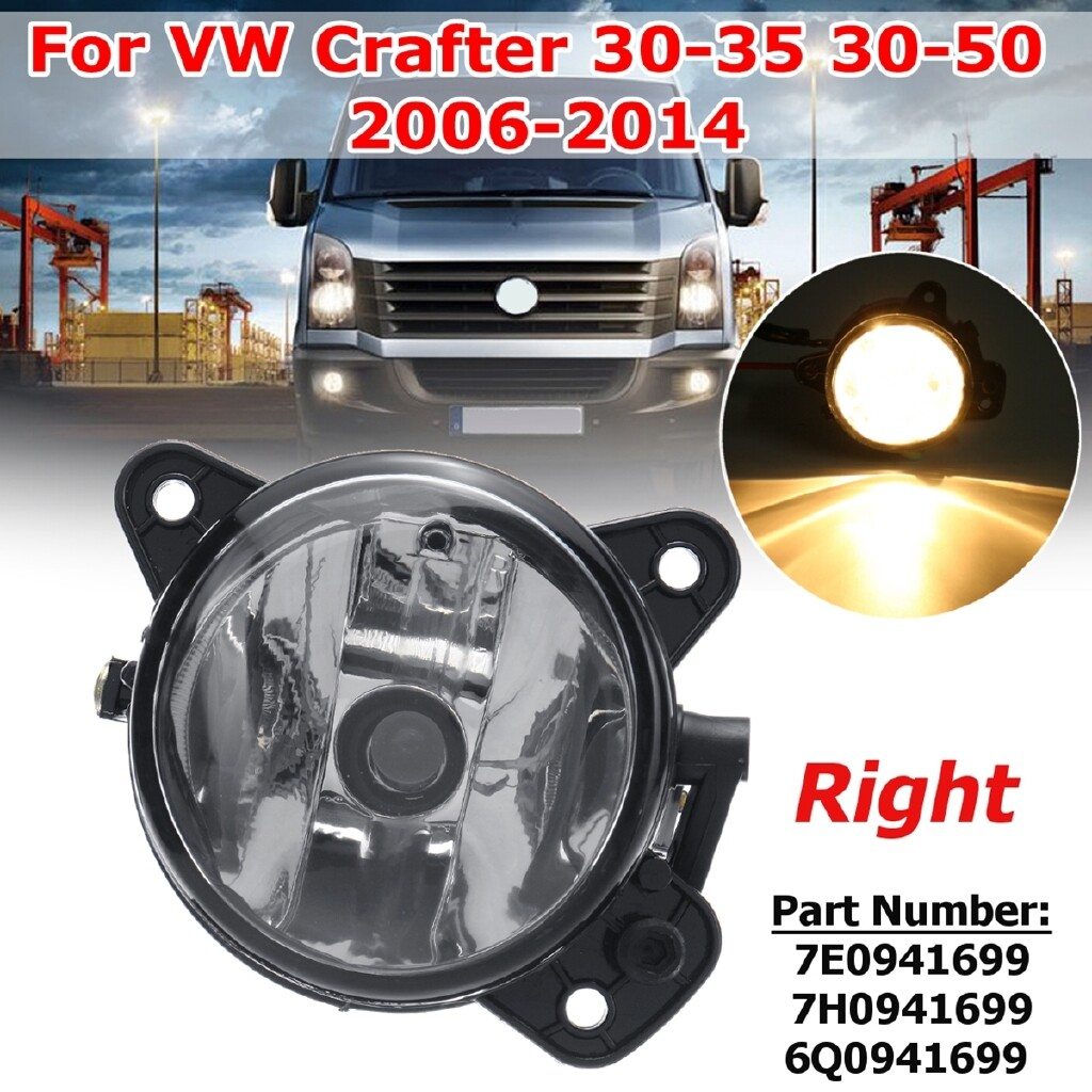 Car Lights - Front Right Bumper Fog Light Lamps For VW Transporter Polo Crafter 30-35 30-50 - Replacement Parts