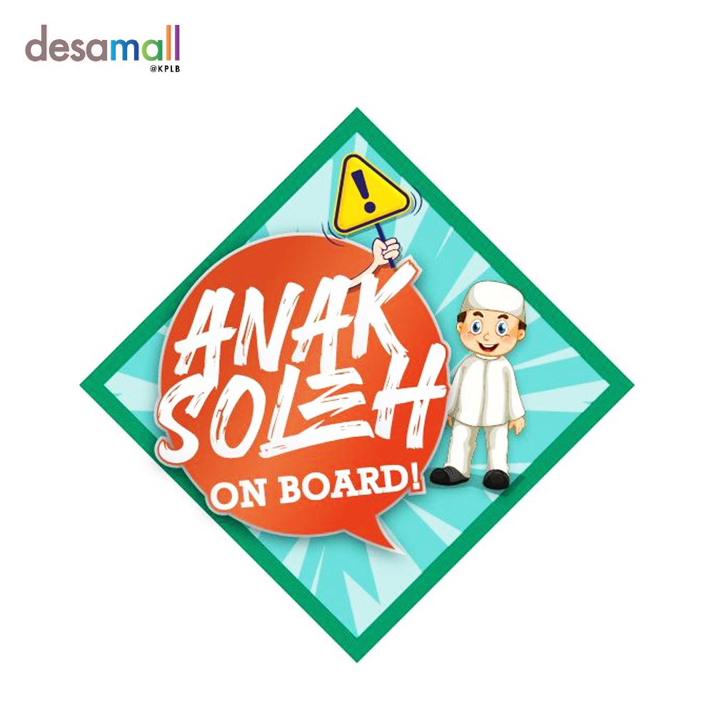 MATA HATI Car Sticker Anak Soleh (140mmx140mm) - On Board Geometric