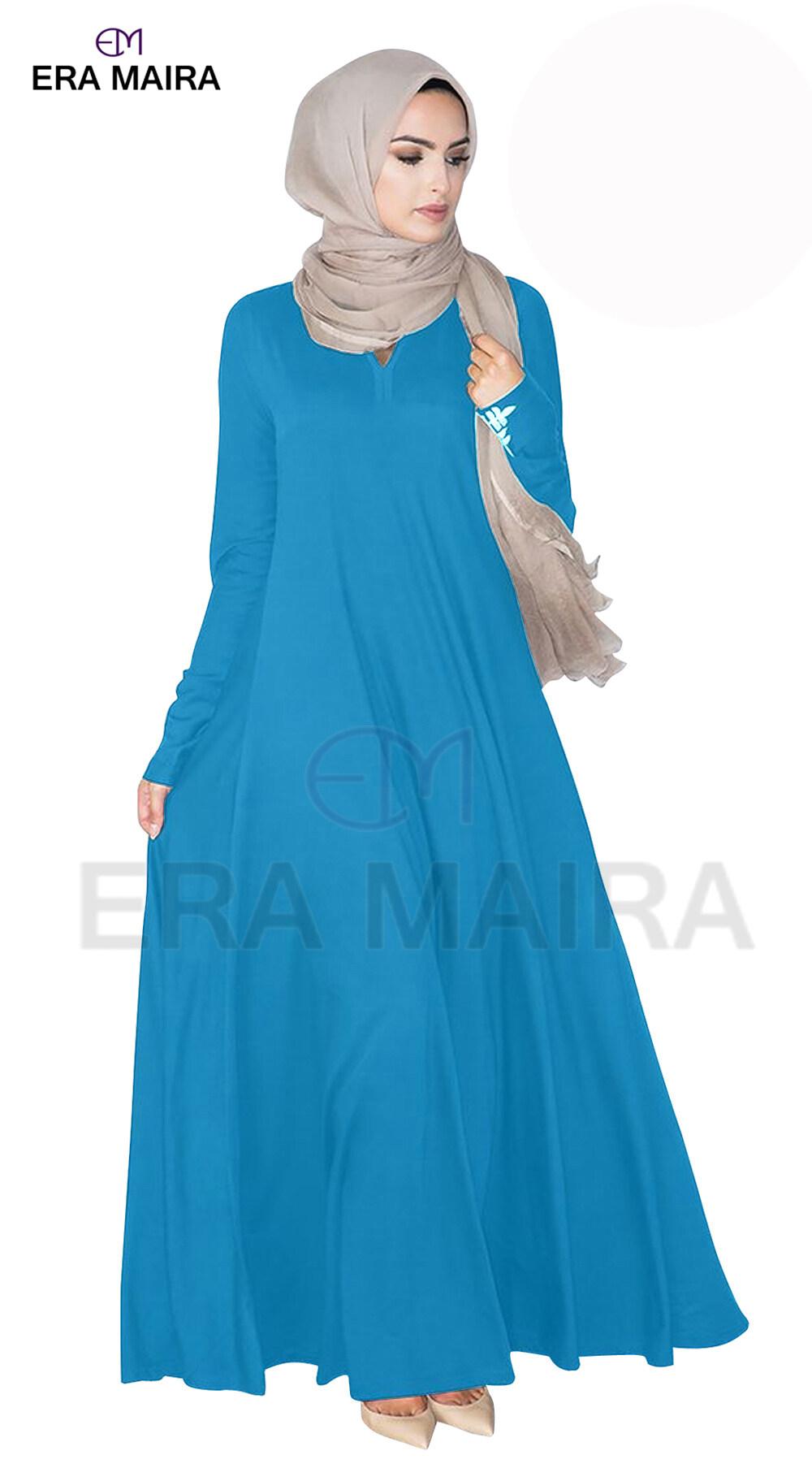 Wide bottom Cut plain jubah abaya for muslimah - Diana