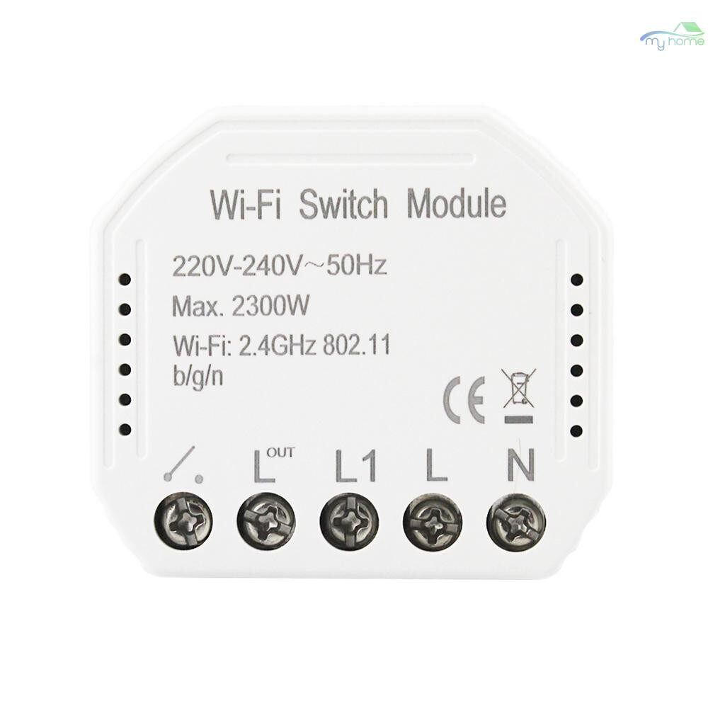 DIY Tools - Wi-Fi Intelligent Switch Light Control Switch Module APP Remote Control Switch Compatible with - WHITE