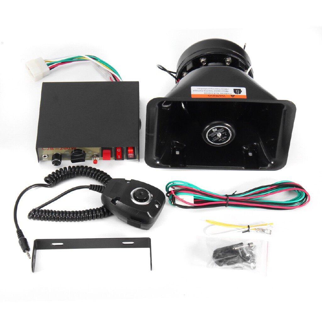 Vehicle Speakers & Subwoofers - 200W 12V Air Siren Horn Warning MIC Speaker For Car Boat Van Truck - Car Electronics