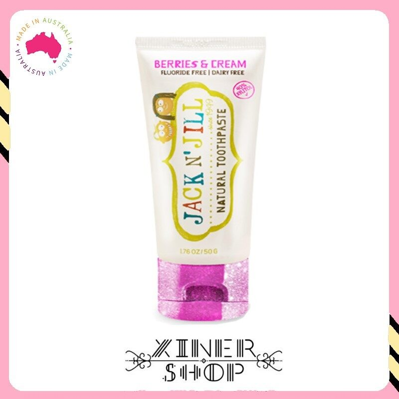 [Pre Order] Jack N Jill Kids Toothpaste Organic Berry & Cream Flavour ( 50g )(Made in Australia)