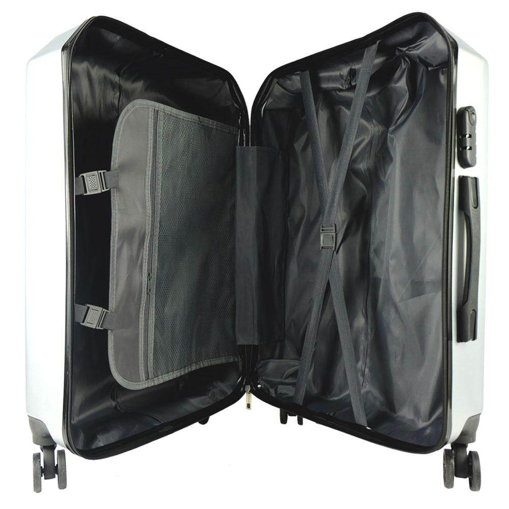 Poly-Pac XA9914 24inch ABS Hard Case Trolley- Silver