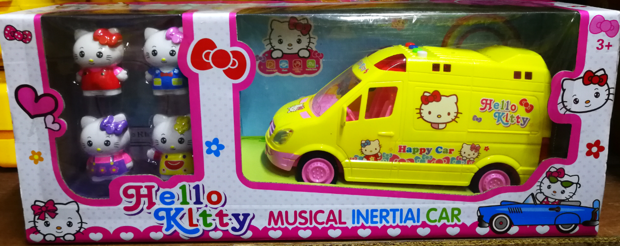 Hello Kitty Musical Inertial Car Toys Set for girls