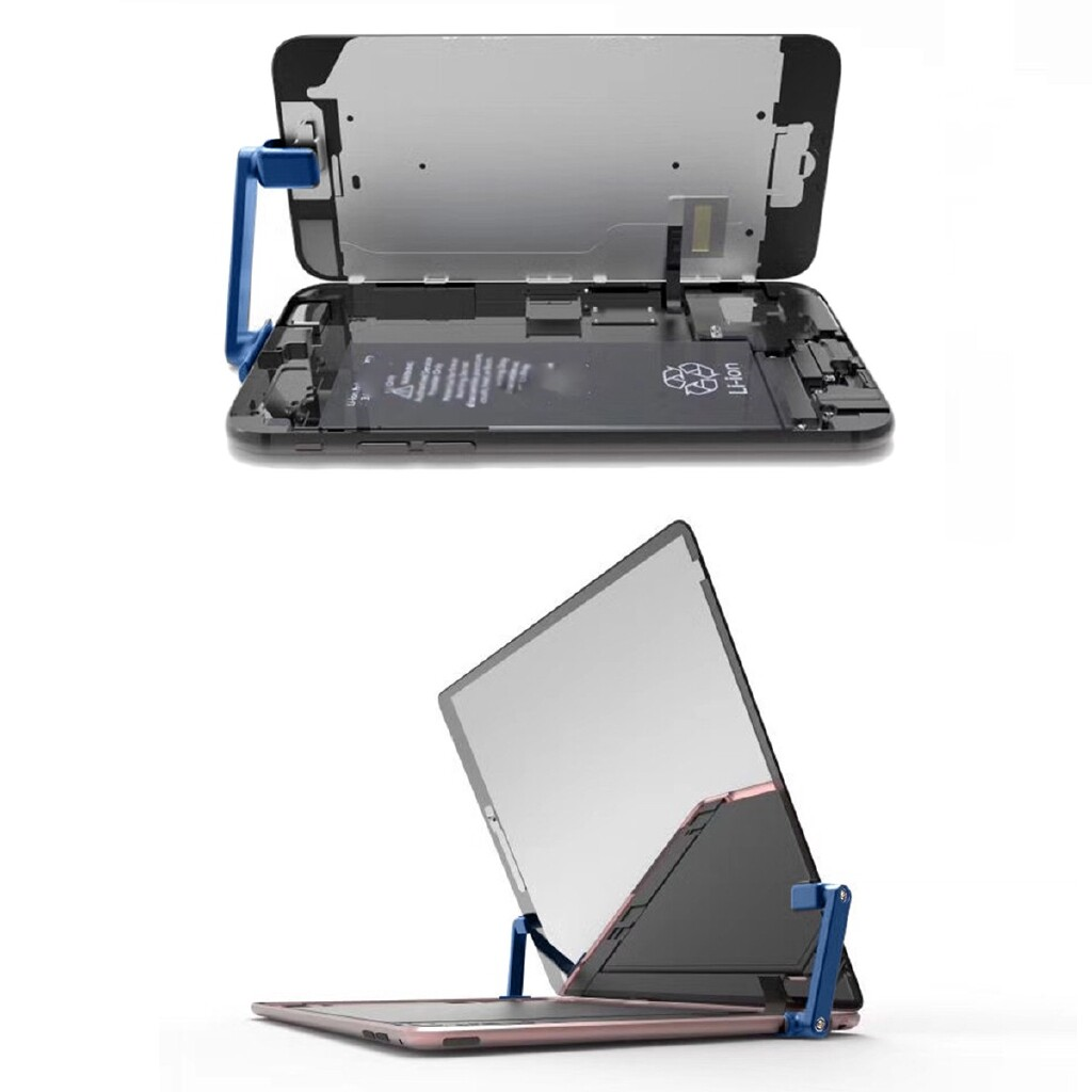 Phone Holder & Stand - Adjustable LCD Screen Phone Clamp Repair Holder Clips - Cases Covers