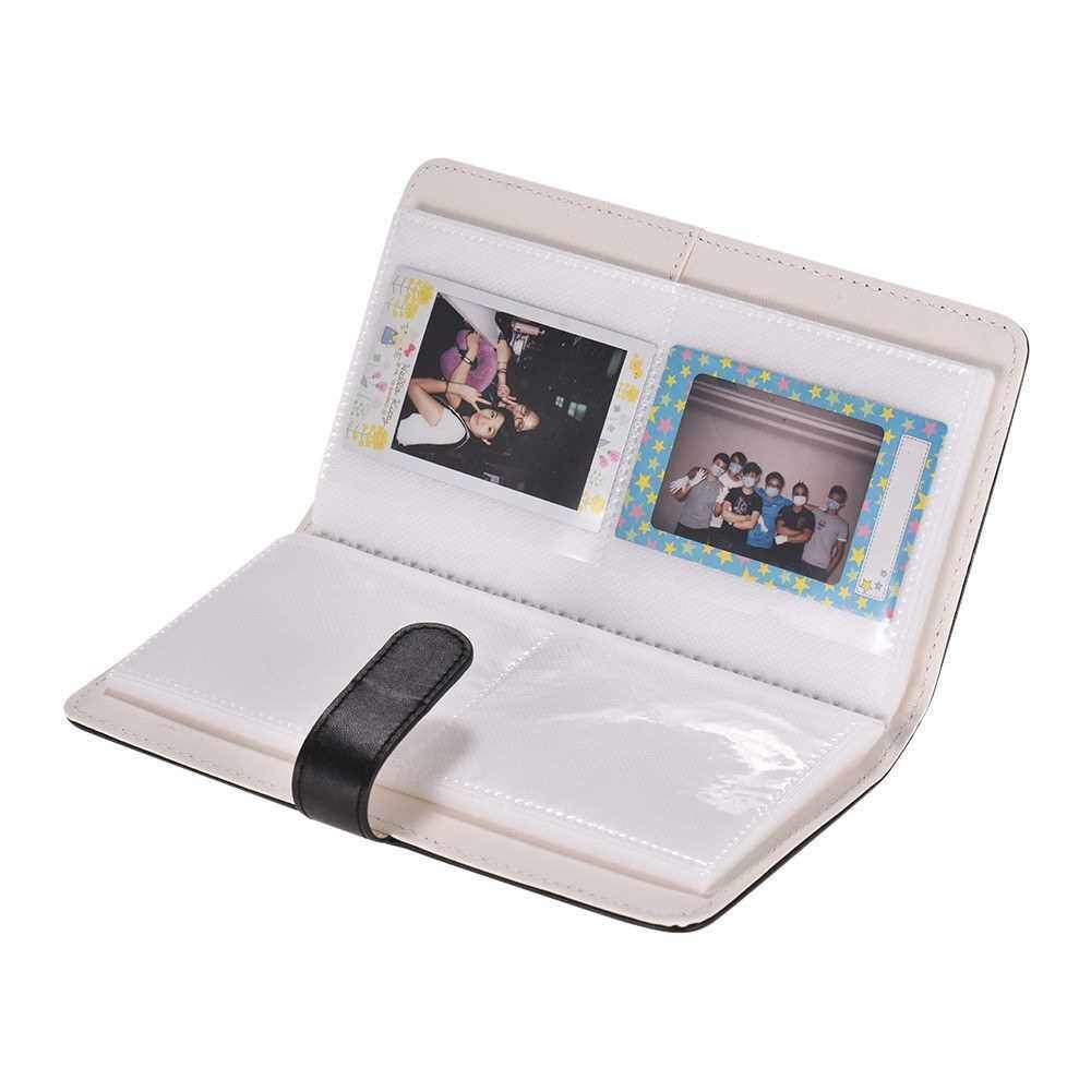 80 Pockets Portable Mini Photo Album Photo Pictures Book Album with Magnetic Closure for Fujifilm Instax Mini 9 8 7s 70 25 50s 90 Color Films Photo Camera Paper for Name Card Credit Card Birthday Christmas Gift for Friends Family (Balck)