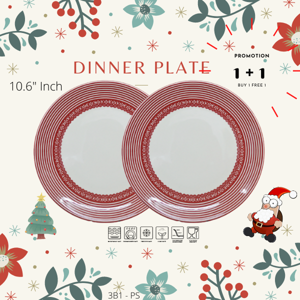 Buy 1 Free 1-Christmas Promotion-3B1PS-LINE RED-Dinning set-Christmas Gift-1212Promotion