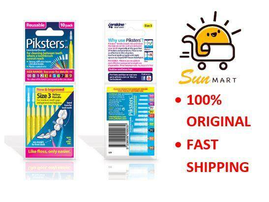 Piksters Interdental Brush Size 3 - Yellow (10 Pcs/Pack)