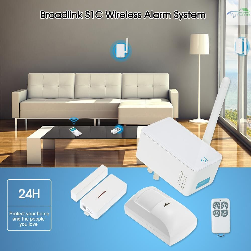 Sensors & Alarms - Broadlink S1C WIRELESS Alarm System Kit SmartONE Host 433Mhz PIR Motion Sensor Door Sensor Fob - Security Surveillance