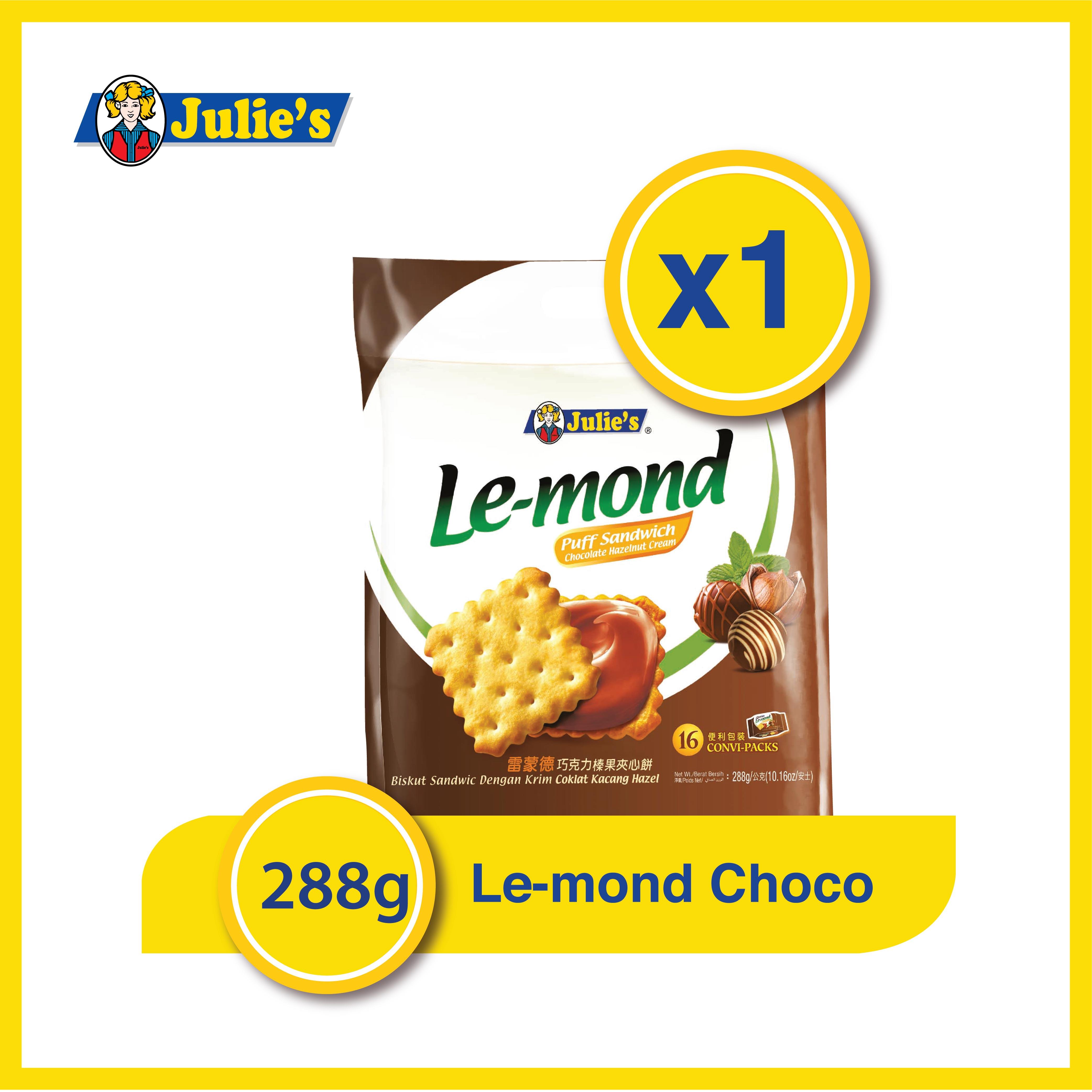 Julie's Le-mond Choc Hazelnut 288g x 1 pack