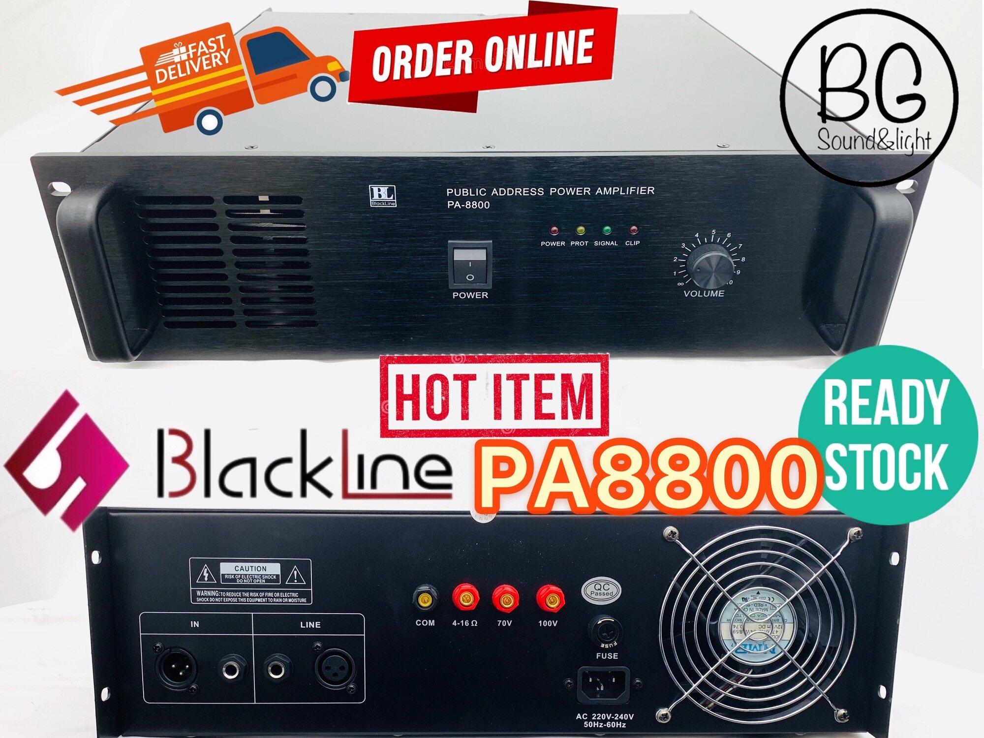 [Ready Stock]Blackline PA8800 800W Public Address PA System Power Amplifier