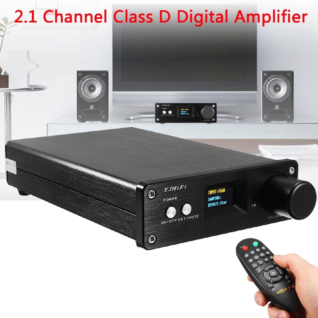Mobile Cable & Chargers - Power Amplifier HiFi Stereo 2.1 Channel Audio Amp USB/OPT 50W+50W