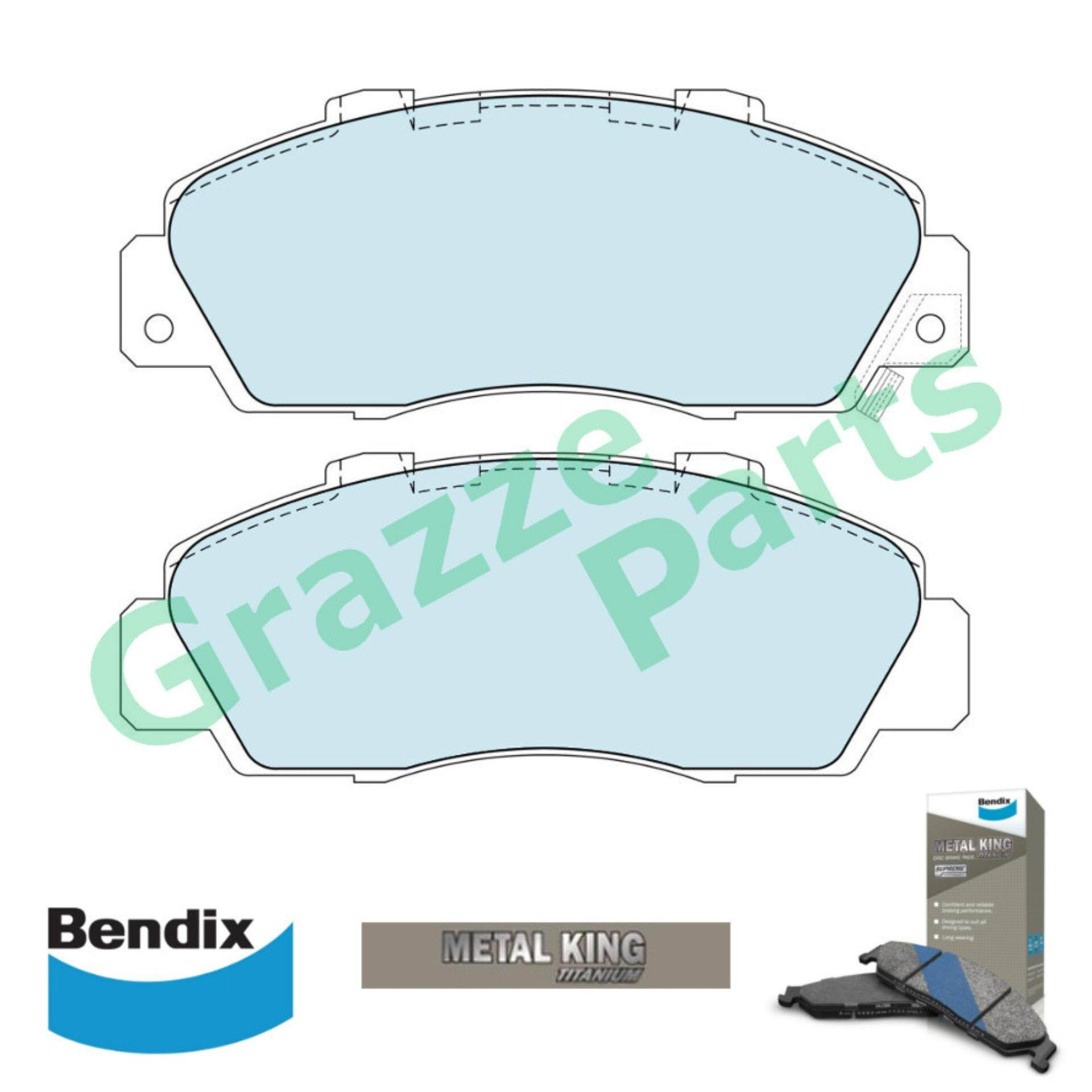 Bendix Metal King Titanium Disc Brake Pad Front for DB1206 - Honda Accord SV4 NSX Prelude SSO Odyssey Legend Integra