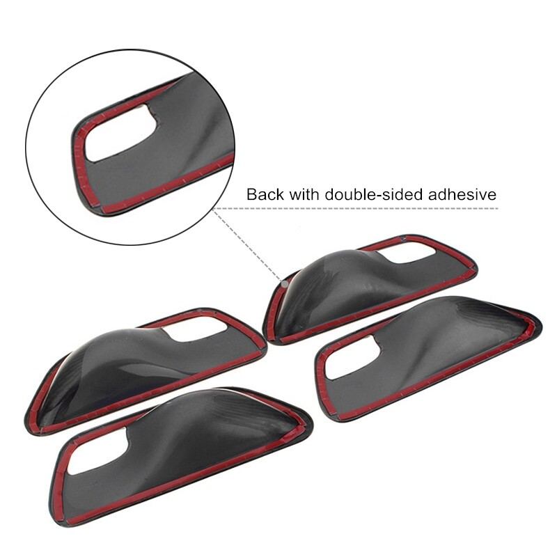 Engine Parts - Carbon Fiber Car Door Handle Bowl Cover For BMW 3 4 Series F30 F32 F35 2013- - Car Replacement