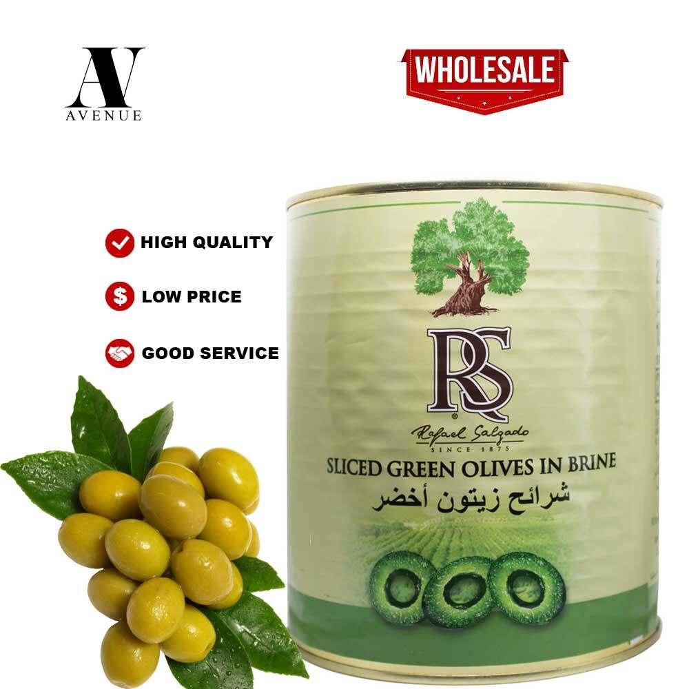 RS Sliced Green Olives in Brine 1.5 KG