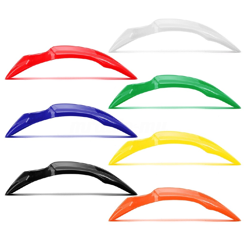 Moto Accessories - Plastic Front Wheel Fender Protector For HONDA CRF50 XR Dirt Pit Bike 7 Colors - WHITE / DARK ORANGE / YELLOW / GREEN / BLACK / BLUE / RED