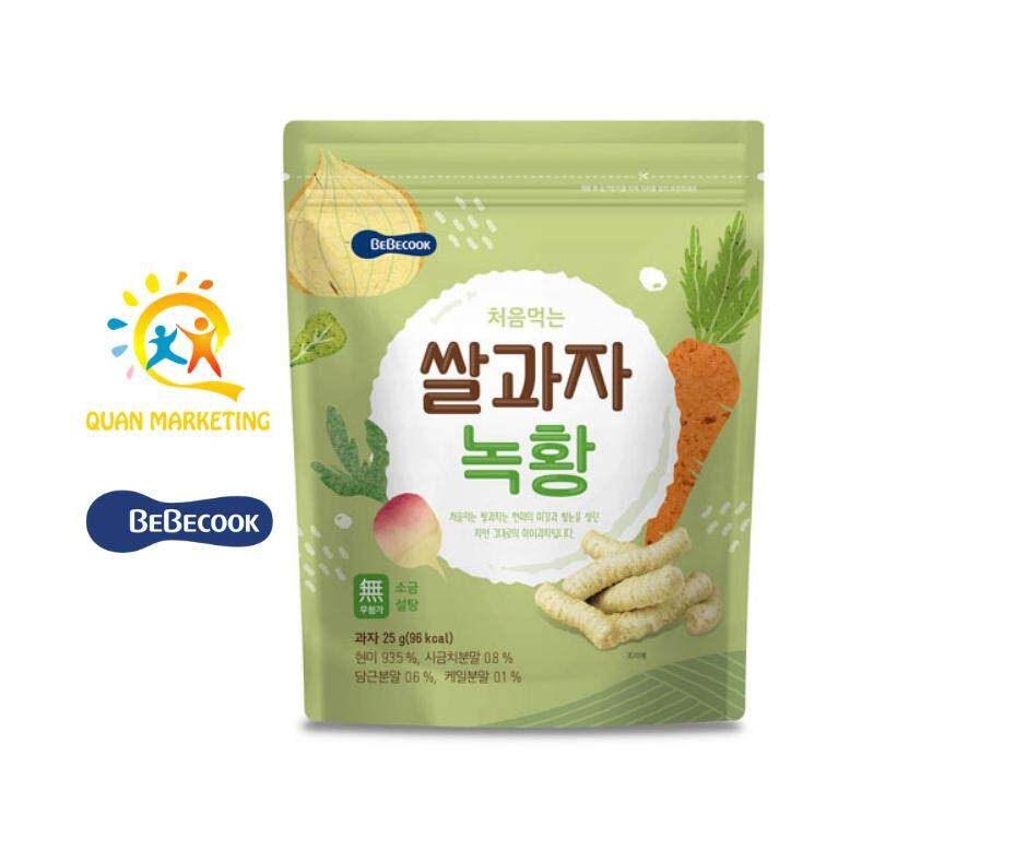 BeBecook Rice Snack Veggie  Flavor - Organic Baby Rice Snack and 100% Imported from Korea