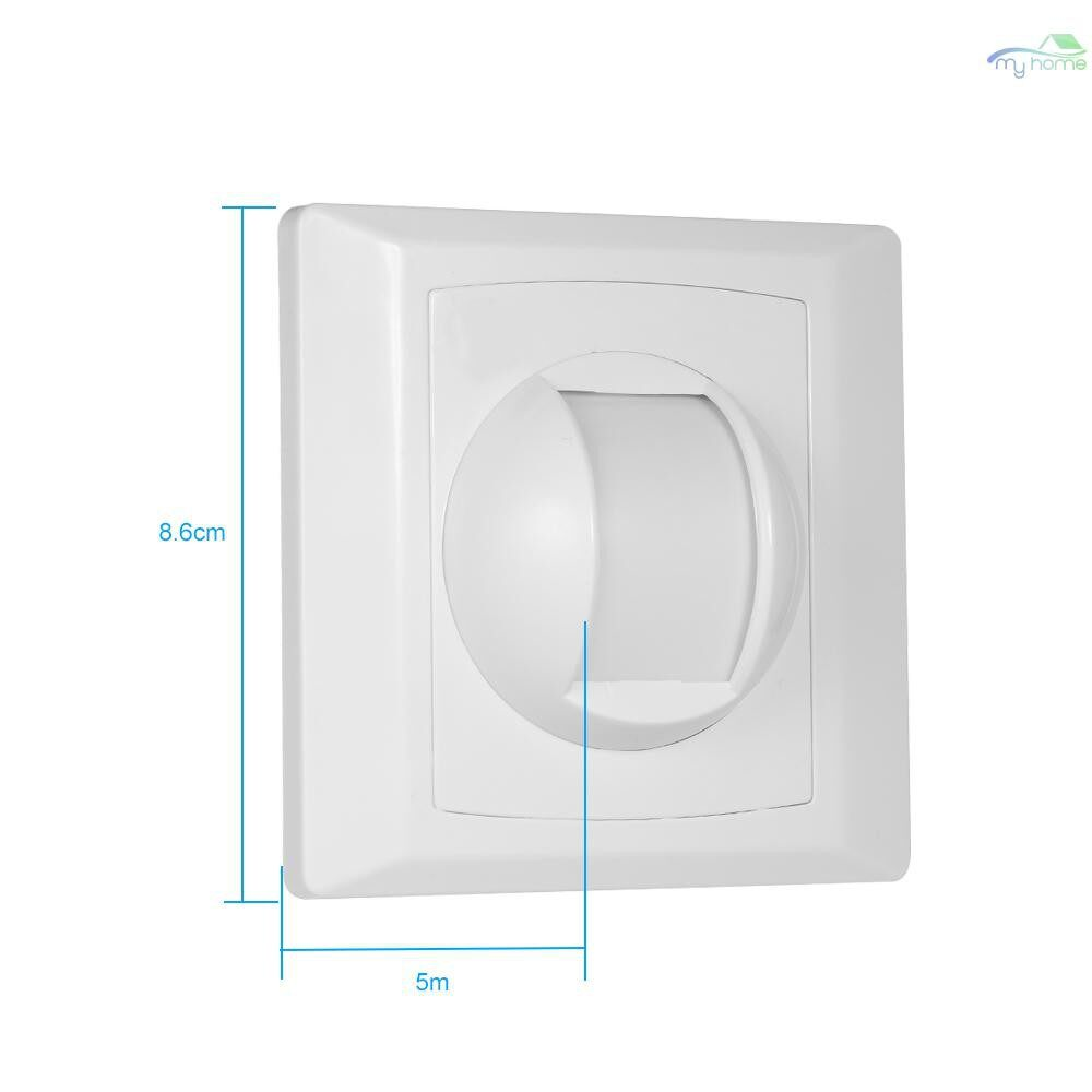 Sensors & Alarms - Wired PIR Motion Sensor Window Curtain Passive Infrared Alarm Detector 86 Type Wall Ceiling - WHITE