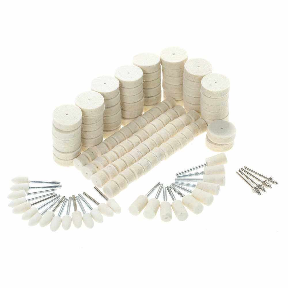 Best Selling 129pcs Abrasive Polishing Wheel Polishing Tools Wool Felt Metal Surface Buffing Accessories for Dremel Rotary Tool (Standard)