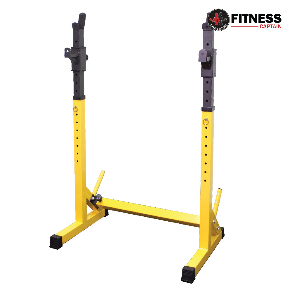 Fitness Captain Gym Adjustable Barbell Stand Squat Rack (with weight plate holder)