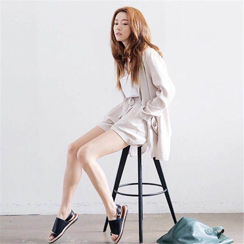 (Pre Order14 Days  JYS Fashion Korean Style Women Blazer +BottomSetCollection515-942col515-942--Rice White -M