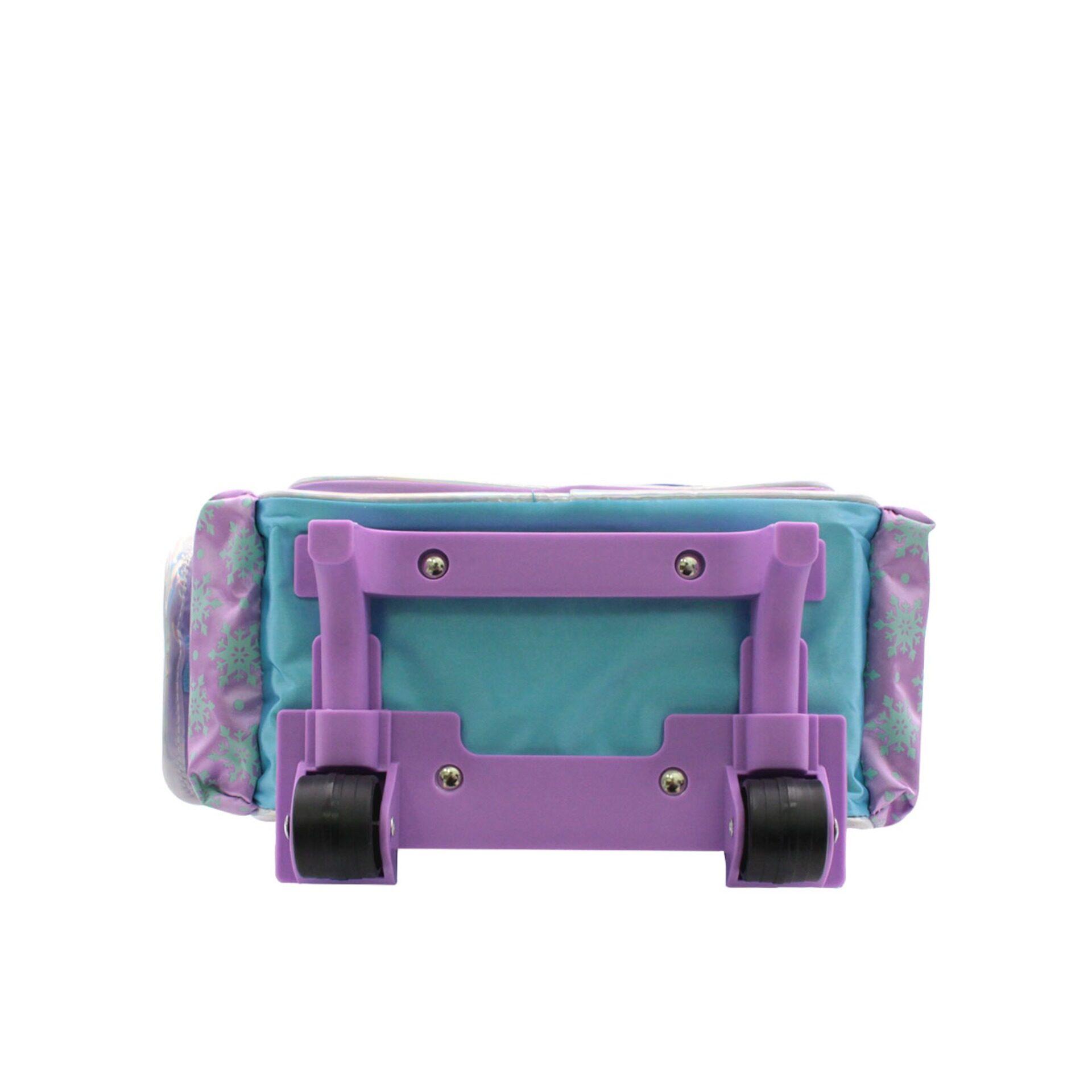 Disney Frozen 2 Princess Elsa Anna & Olaf Pre School Trolley Bag with 2 Wheels (Light Purple & Blue) (Age 7 Years & Above)