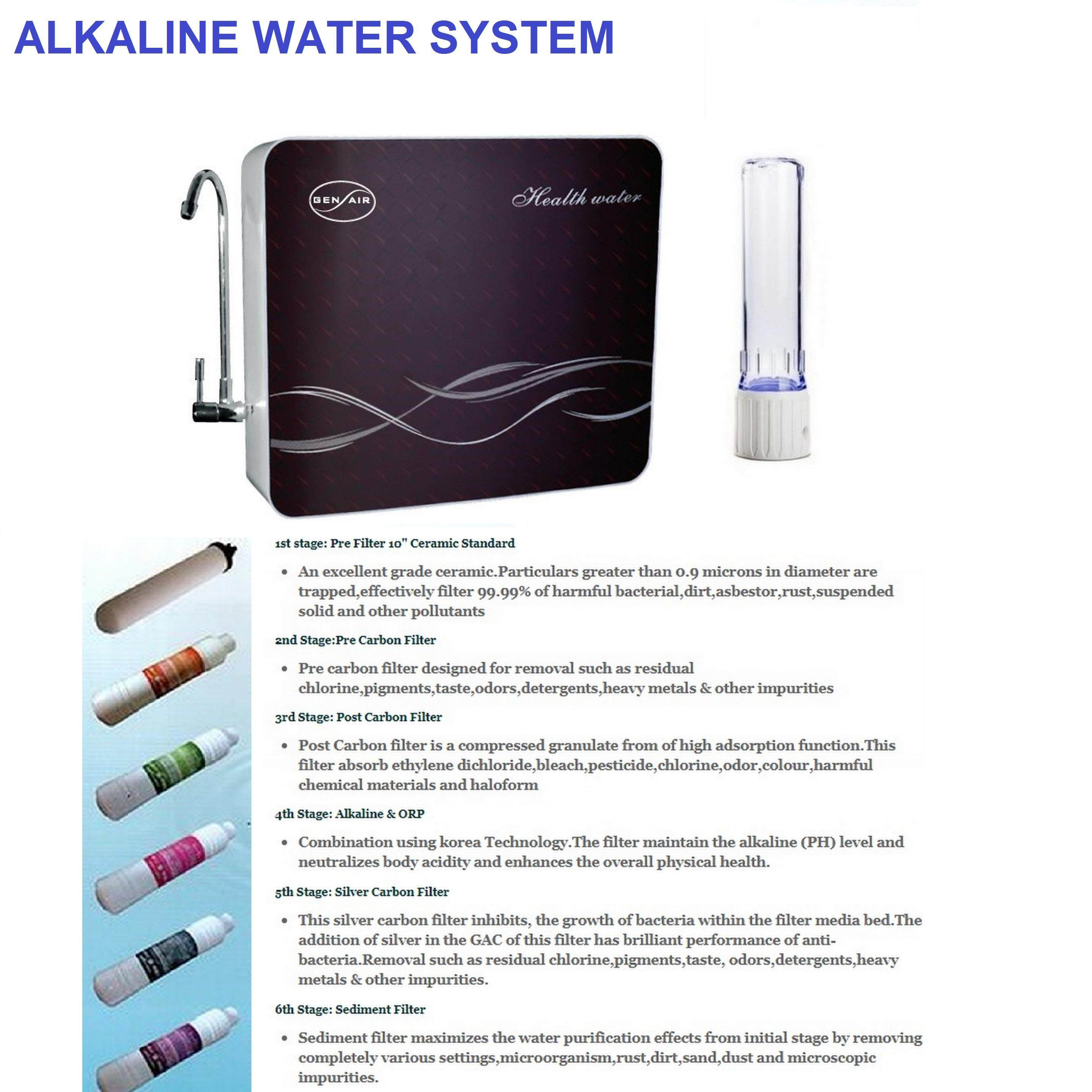 Gen Air Alkaline Water System With Faucet - 6 Stages Filter (693)