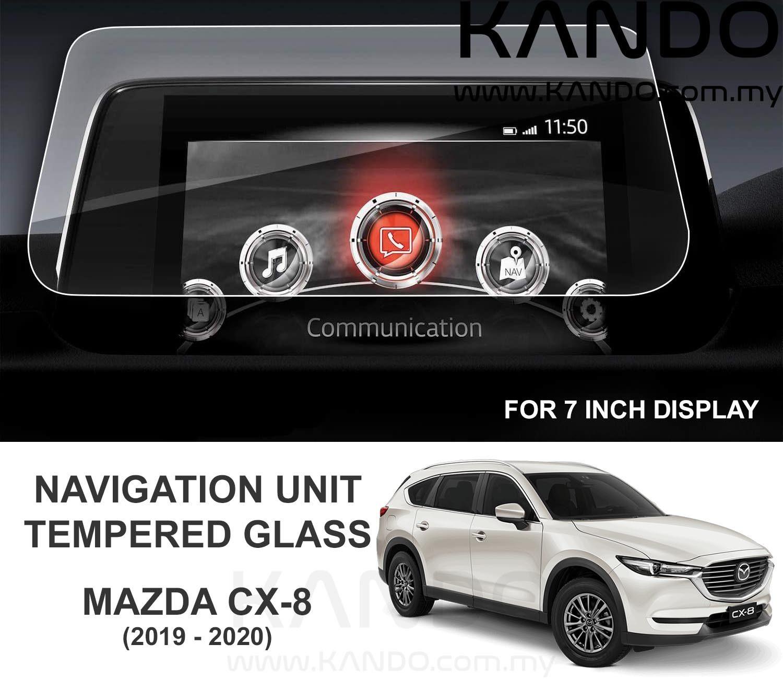 Mazda CX-8 MZD Connect Tempered Glass Protector Mazda CX-8 Tempered Glass Protector MZD Connect 2017 2018 2019 Head Unit Screen Infotainment Tempered Glass Protector Navigation Mazda CX-8 GPS Glass CX8 Tempered Glass CX8 GPS Glass