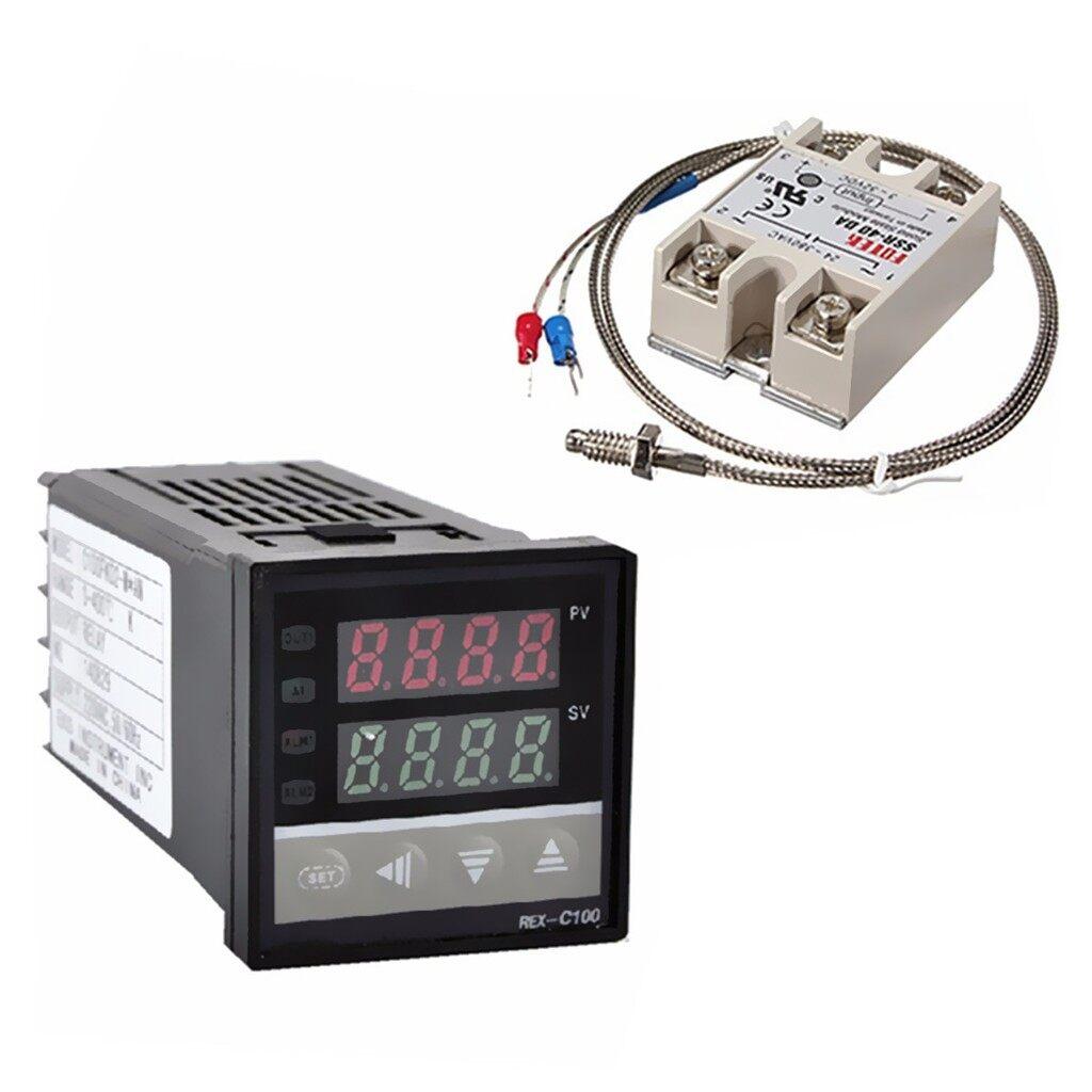 Gadgets - 100-240V Digital PID Temperature Controller+40A SSR+K Thermocouple Probe - Cool