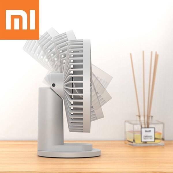 USB Fan - Xiaomi VH 4.5W 2 In 1 Clip-on Table Desktop USB Fan 90 Speed Cooling Fan - PINK / GREY / BLUE