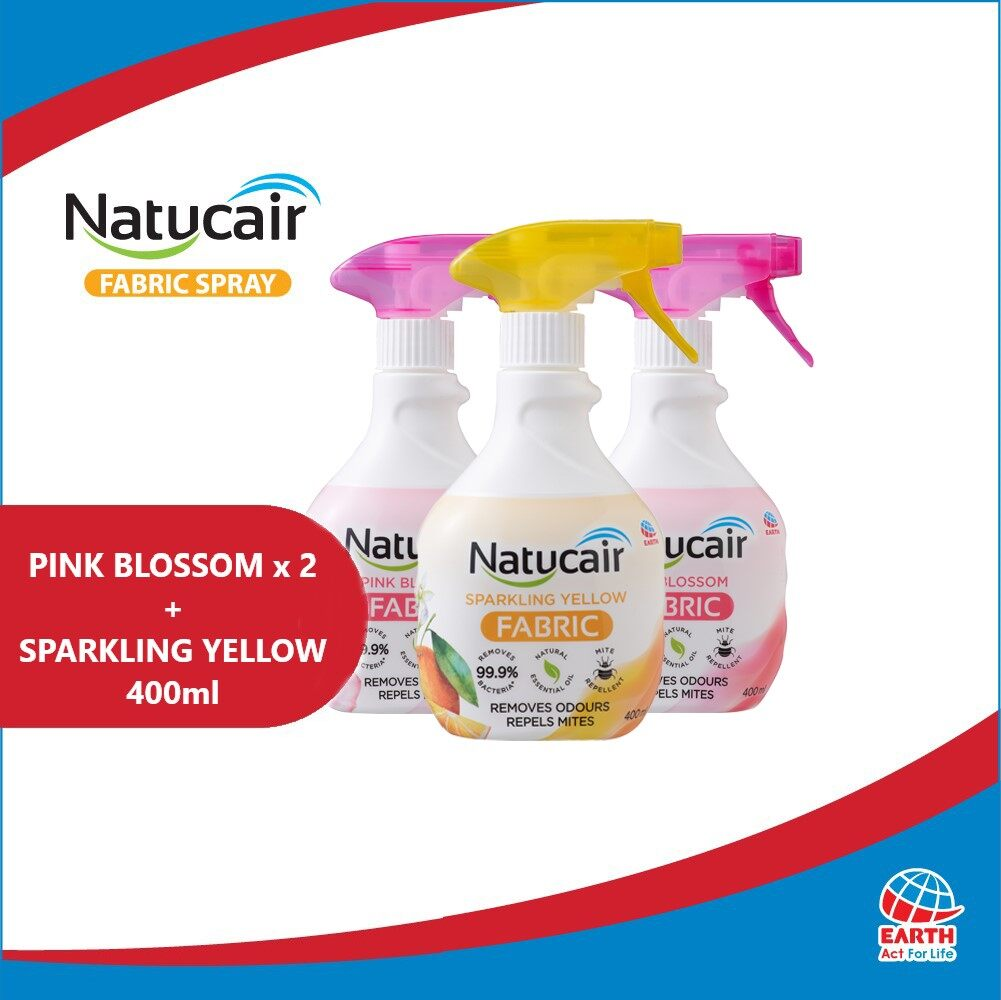 Natucair Fabric Spray Assorted Variants Bundle of 3 [400ml x3]EHB000012c