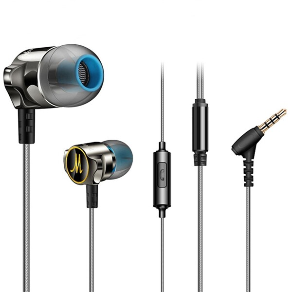 Mobile Audio Earbuds - Fonge D06 In-ear Wired Control HiFi Heavy Bass Earphone Headphone With Mic for Samsung Xiaomi iPh
