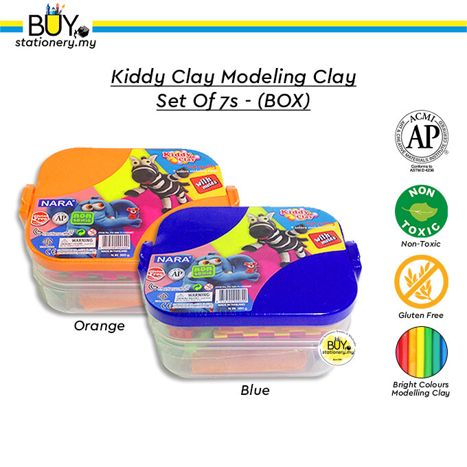 Kiddy Clay Modeling Clay Set Of 7s - (BOX)