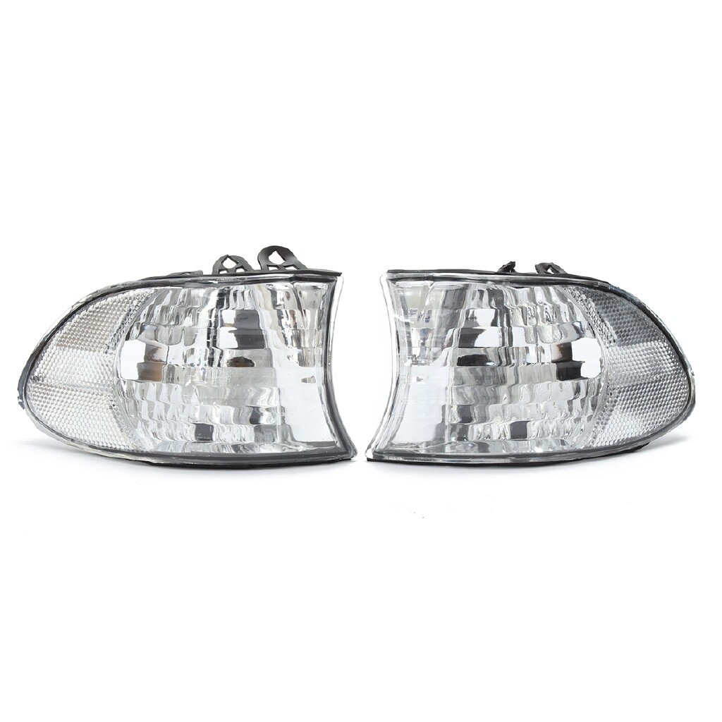 Car Lights - Pair Corner Signal Lights - Clear For 99-01 BMW E38 7-SERIES 740i 740iL 750iL - Replacement Parts