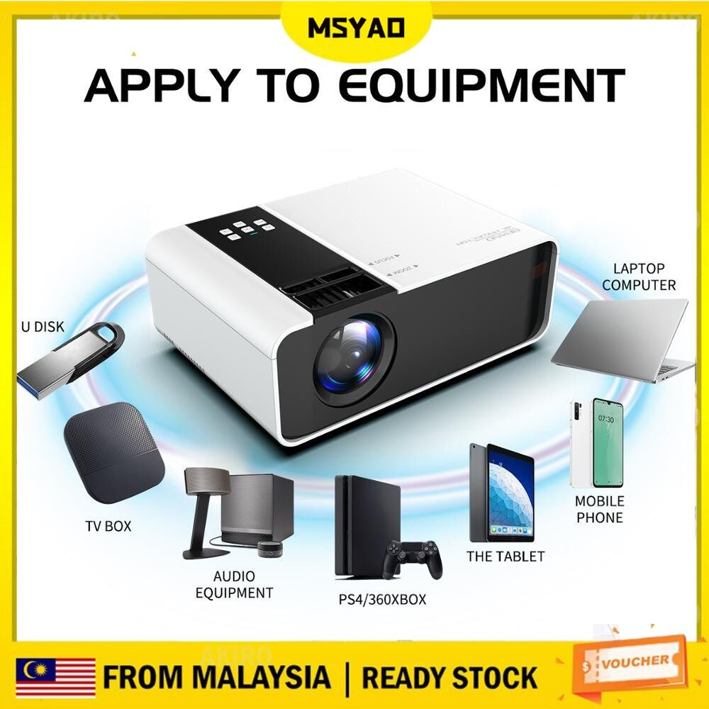 [Ready Stock] Lumens Android Mini Projector HD Proyector 1080P 6000 WIFI LCD Led Projector Home Cinema Android System Full HD 1080p Projector Video Beamer Home Cinema Movie LED Projetor