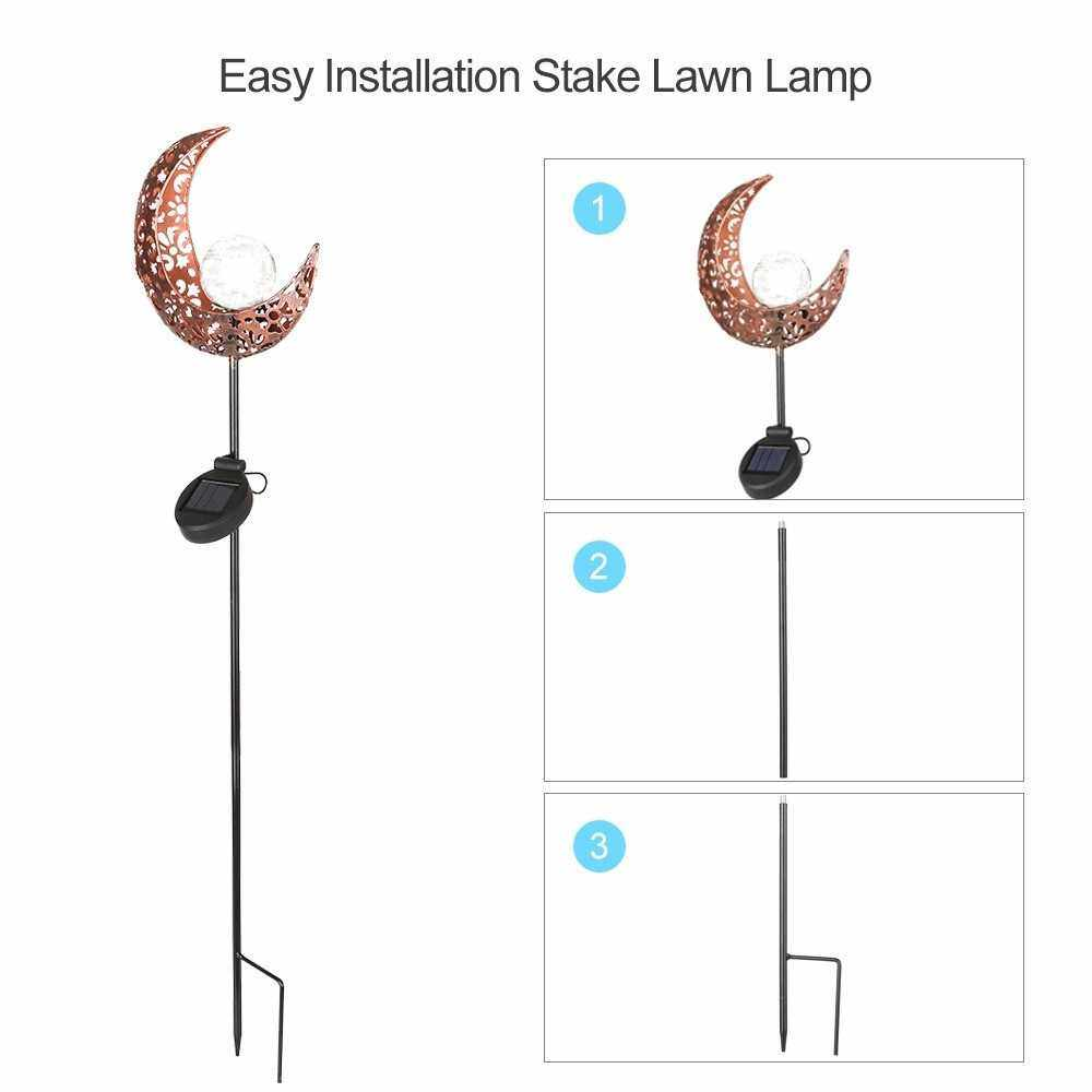Portable Outdoor Intelligent Solar Iron Landscape Lamp With Hollowed-Out Moon (1)