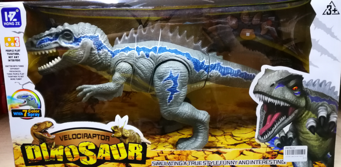 Dinosaur Velociraptor Remote Control Toys Set For Kids