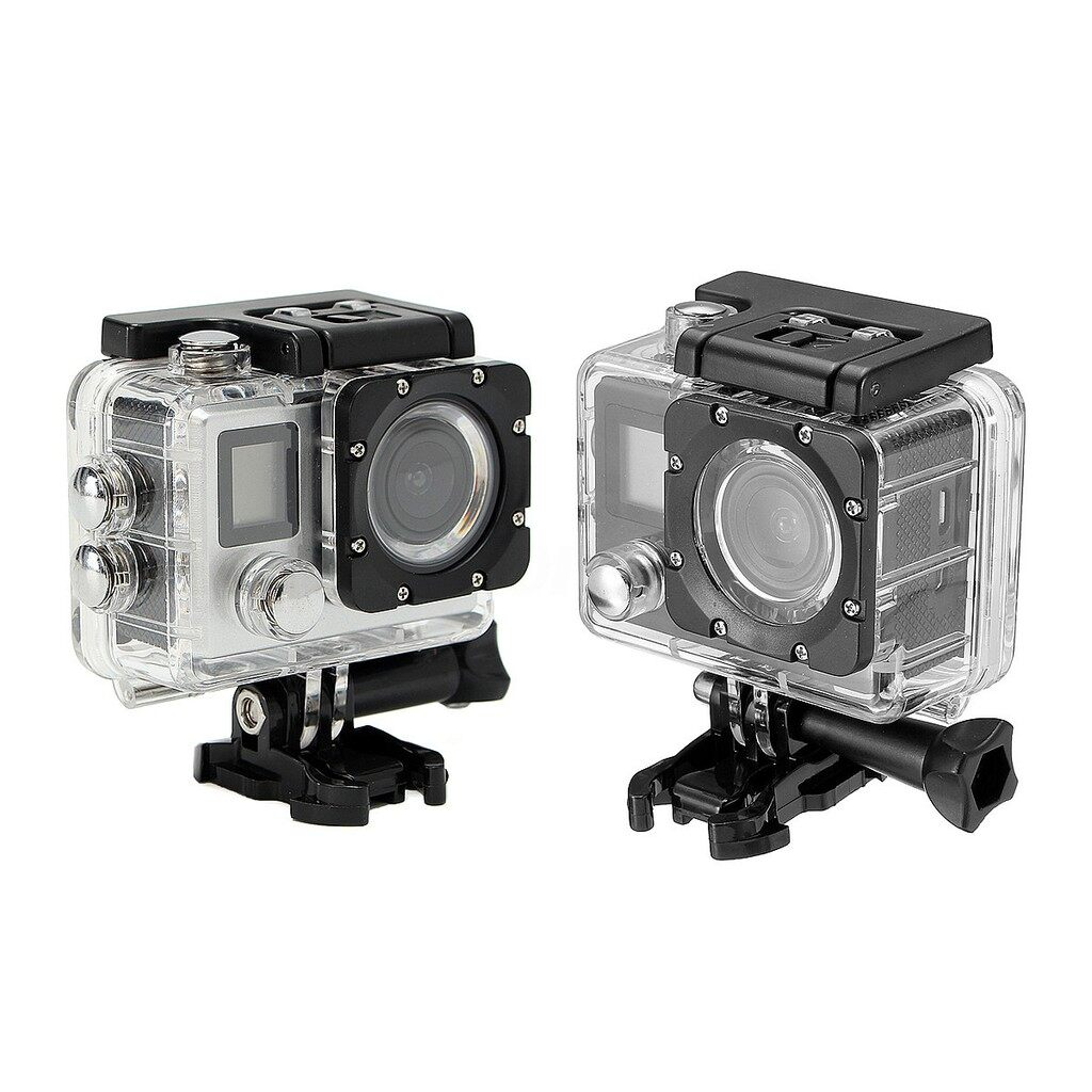 Sports & Action Cameras - ULTRA HD 16MP 2.0'' 170 WiFi Waterproof Sports DV Action Camera - SILVER / BLACK