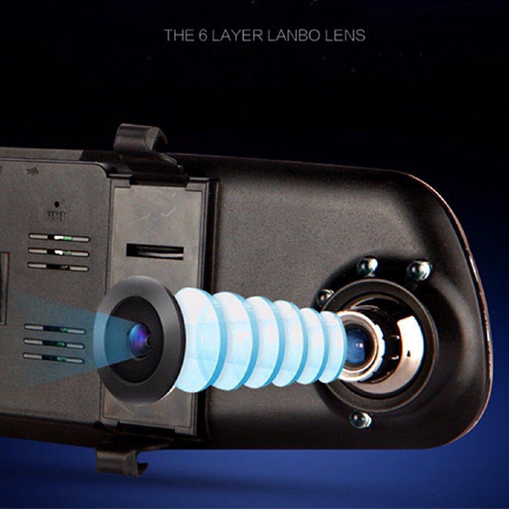 Sports & Action Cameras - 4.3'' Rear View Mirror Monitor HD 1080P Car DVR camer Recorder Backup - Drones