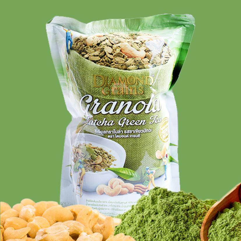 Diamond Grains Granola, Matcha Green Tea 220g