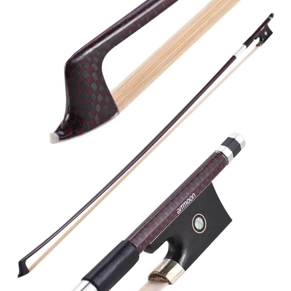 Best Selling ammoon 4/4 Violin Fiddle Bow Round Stick Exquisite Frog