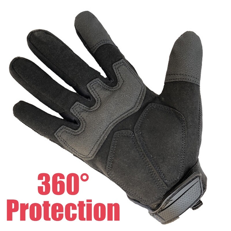 Moto Accessories - 1 Pair Of Gloves Black 3 Sizes M/L/ML Hand Protection Gloves Fiber Material - M / XL / L