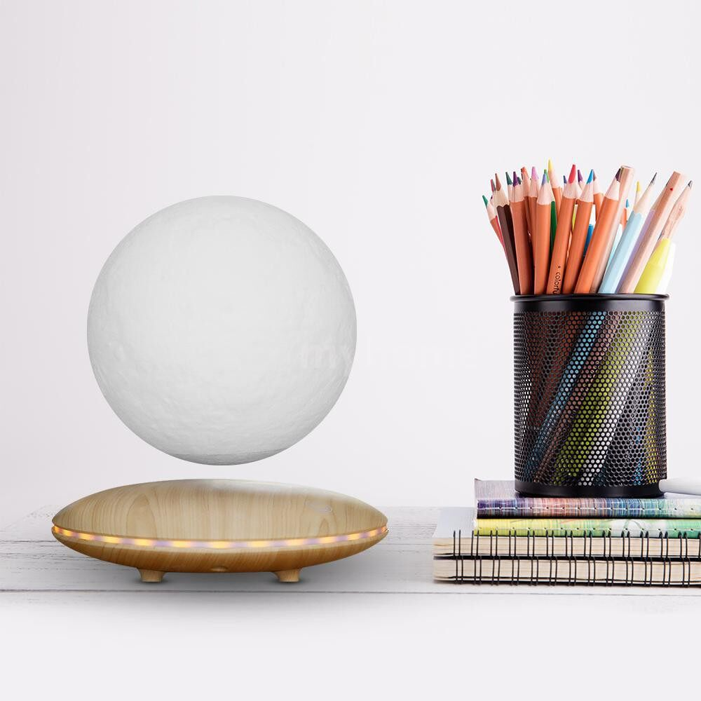 Table Lamps - Levitating Moon Lamp Floating Spinning LED 3D Moon Light 3 Colors Transformation TouchSwitch - Lighting