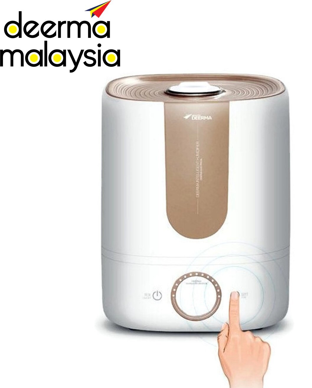 Deerma F525S / F525 Air Humidifier Digital Elegant 5L Water Tank
