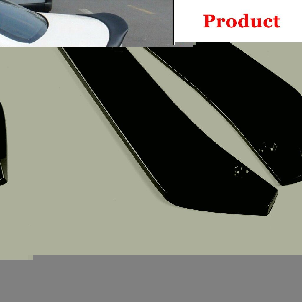 Car Lights - For Car Universal 2 PIECE(s) Bright Black Rear Bumper Lip Wrap Angle Splitters - Replacement Parts