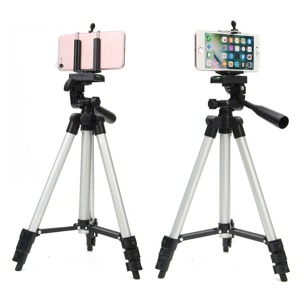 Car Accessories - Pro Stretchable Camera Tripod Stand Mount Holder for iPh Samsung Phone + Bag - Automotive
