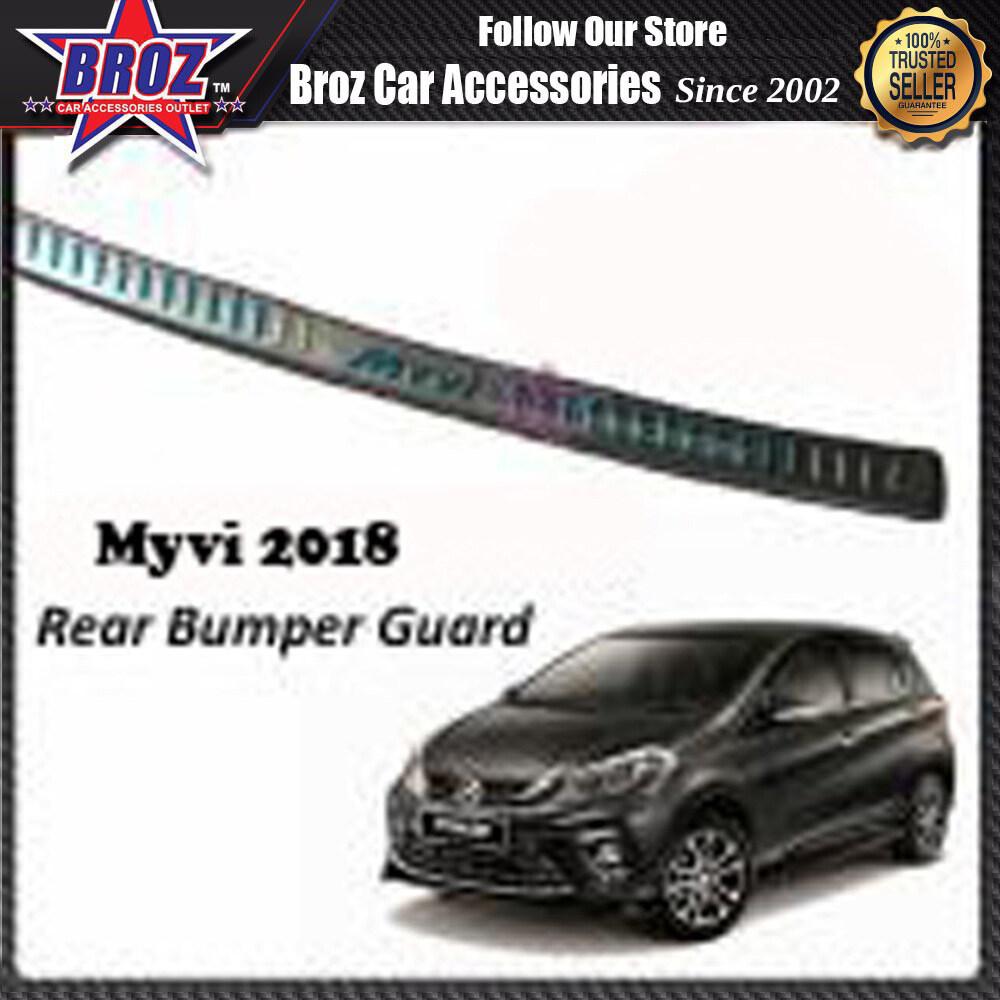 Broz ABS Rear Bumper Guards Bumper Trunk Protector Foot Plate For   Myvi 2018