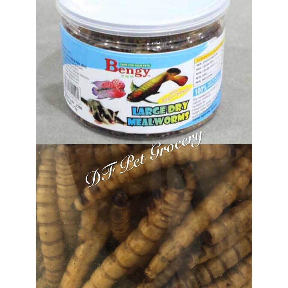 Bengy Large Dry Meat Worm 75g For Fish , Small Animals - 2200
